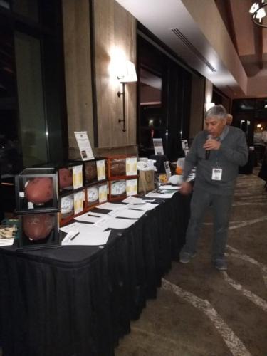 Steve at Silent Auction